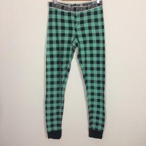 VS Pink Mint and Black Checkered Plaid PJ Pants